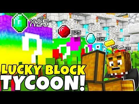 *NEW* MINECRAFT MODDED LUCKY BLOCK TYCOON w/ BLOCK ARMOR MOD - MINECRAFT MOD MINIGAME