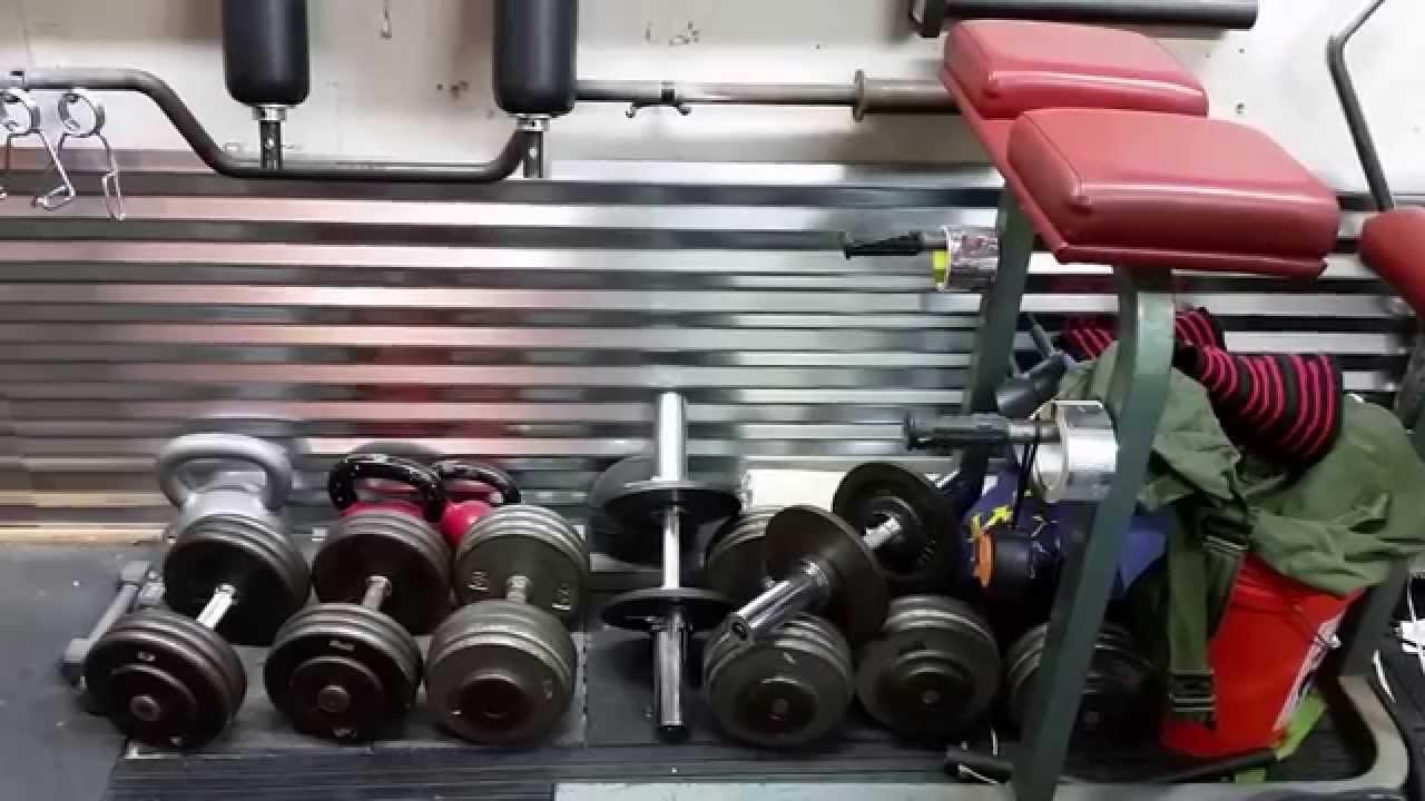 Tour of my home gym garage walk through feb