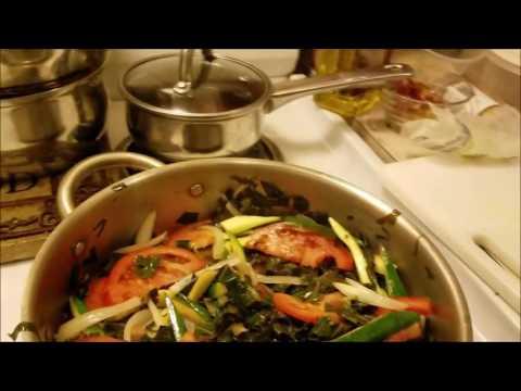 Ras Fletcher's Ital Collard Greens with Zucchini & Brawta!! #YardieLife