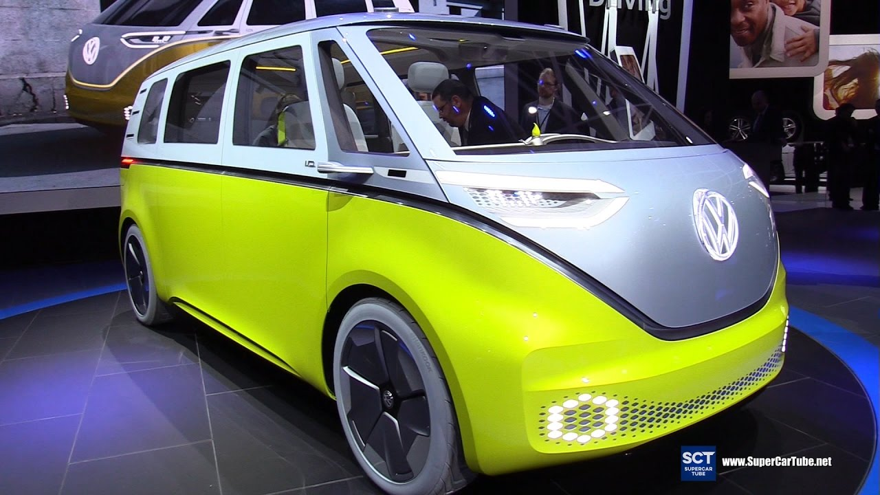 Vw Bus 2018 Interior >> 2018 Volkswagen I.D Buzz Concept - Exterior&Interior Walkaround - Debut at 2017 Detroit Auto ...