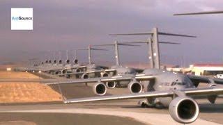 "C-17 Globemaster Mass Launch - ""Freedom Launch"" Remembers 9/11"