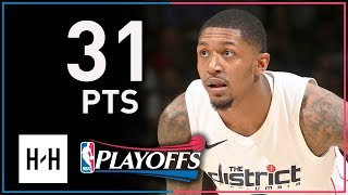Bradley Beal Full Game 4 Highlights Wizards vs Raptors 2018 Playoffs - 31 Points, SICK!
