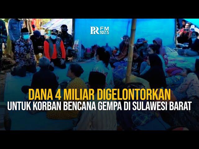 Doni Monardo Gelontorkan Dana 4 MIliar untuk Korban Bencana Gempa di Sulawesi Barat