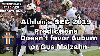 Athlon's 2019 SEC Predictions don't favor Auburn or Gus Malzahn