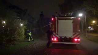 Brandweer Tilburg komt aan bij Brand in GGZ gebouw Baden Powelllaan Tilburg