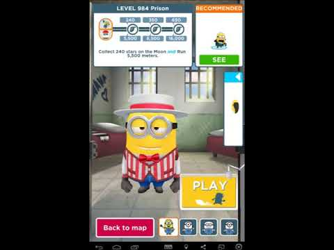 Despicable Me Minion Rush - Level 979, 980, 981, 982, 983, 984, 985 and 986 The Prison All 24 Fruits
