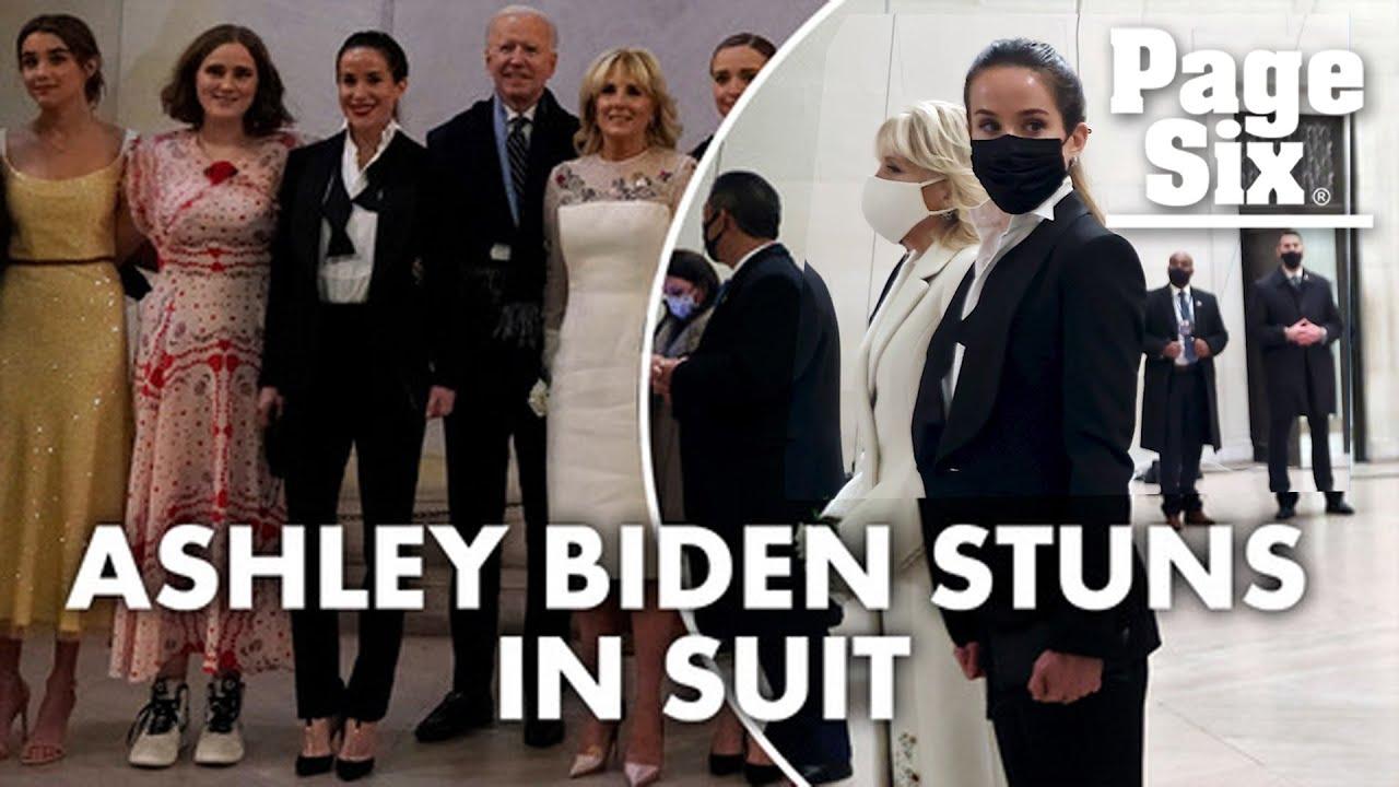 Joe Biden's daughter Ashley turns heads in tuxedo on inauguration ...