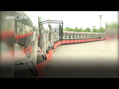 В Казань прибыла партия новых автобусов − 94 «МАЗа» выстроились на площади Тысячелетия