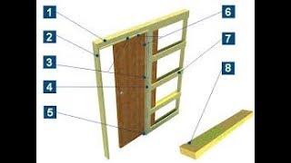 как сделать раздвижную дверь в стену