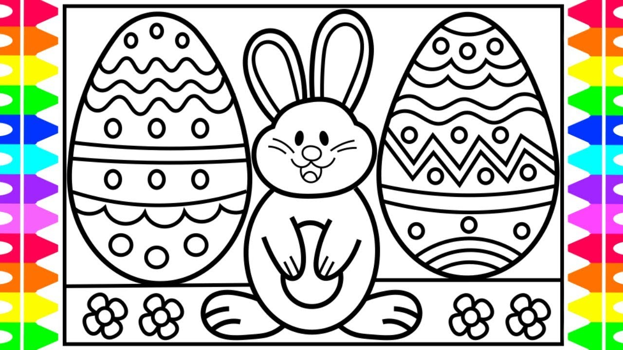 How to Draw an EASTER Bunny for Kids 🐰🌈🌷Fun Surprise Easter Bunny ...