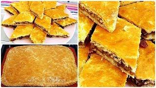 Вкуснейший Рассыпчатый Пирог внутри Орех+Изюм☆ Осон Пахлава  узбекча вариант 👍