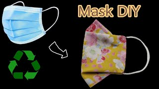 Recycling project Mask DIY Breathable Face Mask Sewing Tutorial Easy Pattern at home