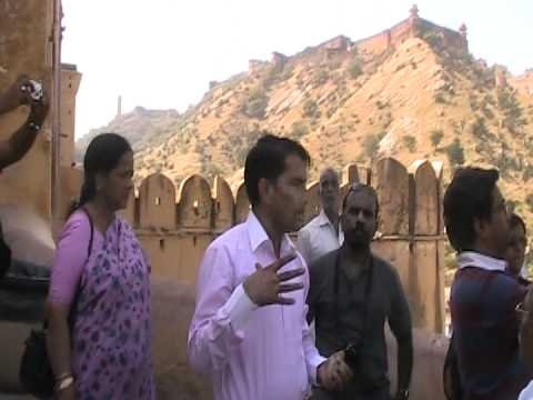 Amber Fort with tour guide