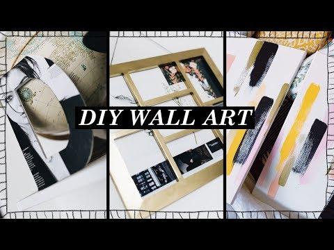 3 DIY WALL ART IDEAS - Pieces You ACTUALLY Want!! // Lone Fox