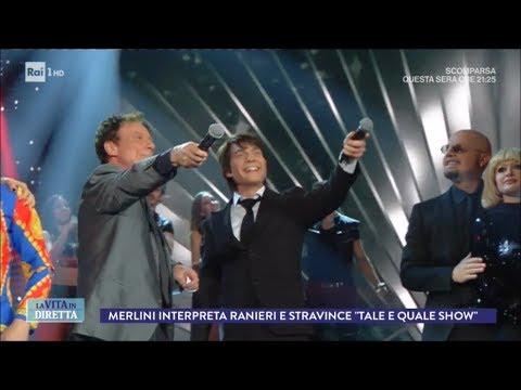 """Davide Merlini stravince la puntata di """"Tale e Quale Show"""" - La Vita in Diretta 27/11/2017"""