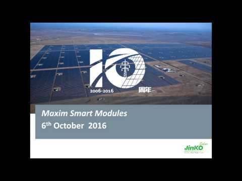 PROINSO Webinar Episode 6 - Jinko Solar Maxim Smart modules