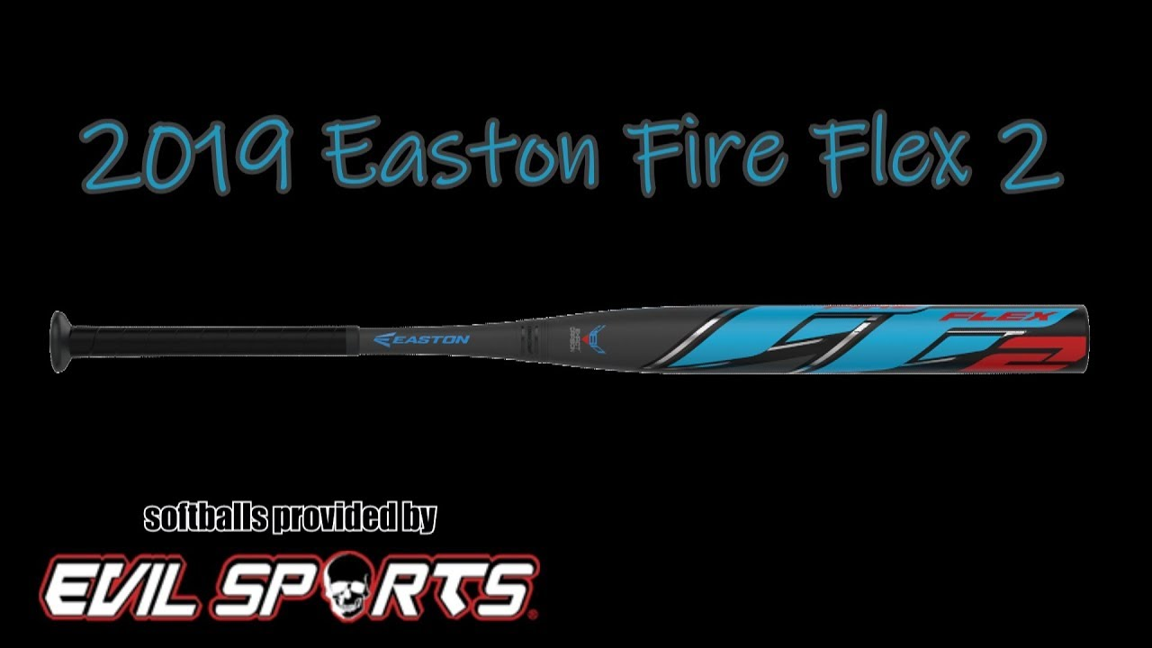 "27 Fire Flex 2 Loaded USSSA Slowpitch Softball Bat 2019 Easton SP19FF2L 34/""  26"