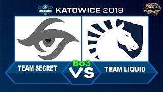 [DOTA 2 LIVE PH]Team Secret VS Team Liquid|Bo3|ESL One Katowice 2018 - Main Event