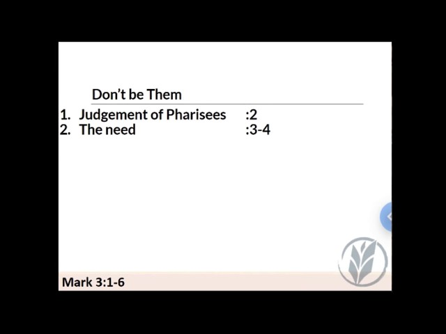 Sunday School 190714 · Don't Be a Pharisee · Pittman · VBC Livestream