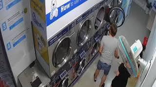 Lộ clip nhạy cảm đôi nam nữ giặt đồ lúc 12h đêm