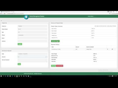 Dental Patient Management System with Partial Payment Management