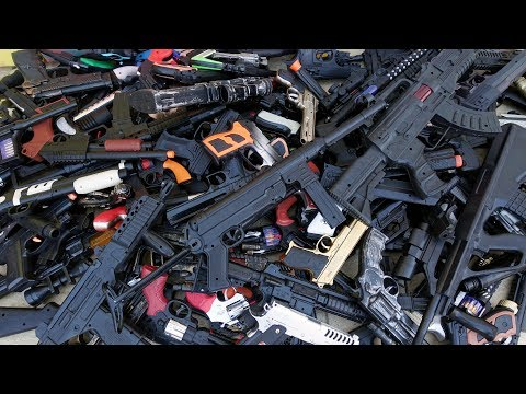 138 Piece Toy Guns !!! Sam's Arsenal Of Weapons - Boxes Of Toy Guns ! A Small Part Of My Collection