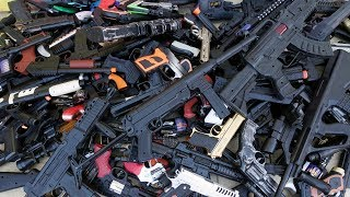 138 Piece Toy Guns  Sams Arsenal of Weapons - Boxes of Toy Guns  A Small Part of My Collection