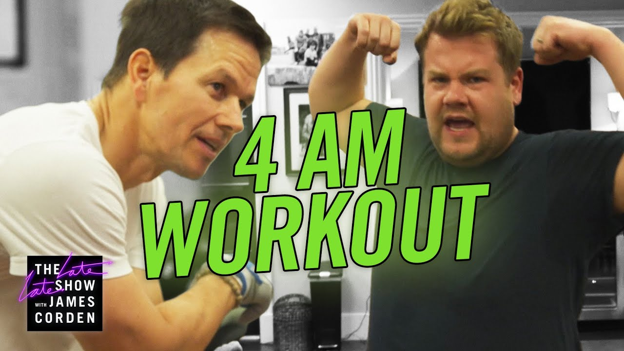 James Corden Joins Mark Wahlberg for His 4am Workout