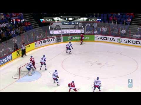 Česká republika - Slovensko 1:3 MS 2012 semifinále záznam HD