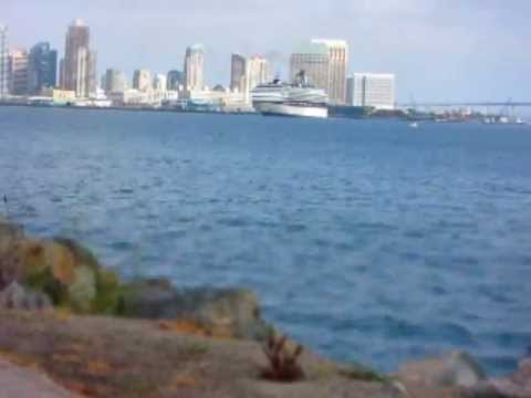 Time Lapse - Celebrity Cruise Ship Departs San Diego