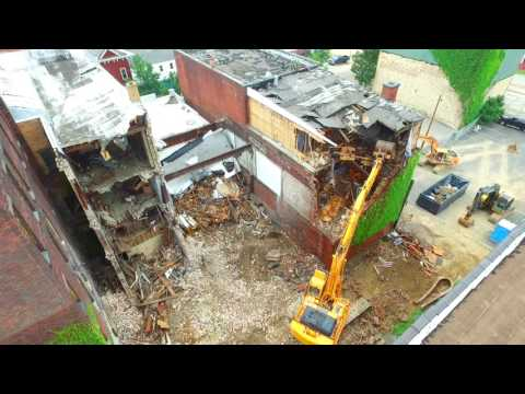 Buildings coming down in E. Liverpool, Ohio