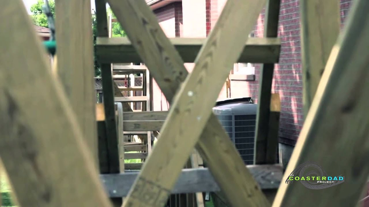 backyard roller coaster review august 2014 youtube