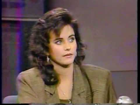 Courteney Cox on Letterman 1987