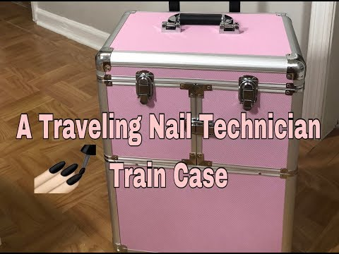 Traveling Nail Technician| Rolling Train Case