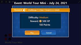 World Tour Mini Game #7 | July 24, 2021 Event | Pyramid Medium