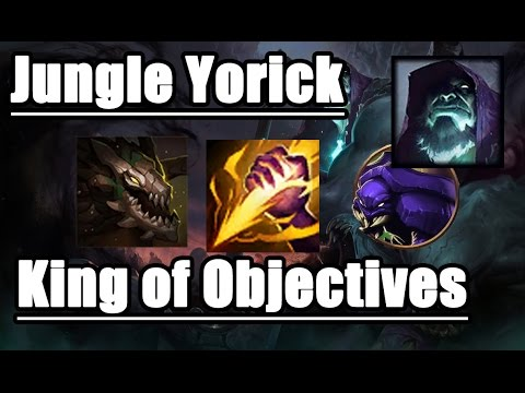 KING OF OBJECTIVES AD JUNGLE YORICK - Early Solo Dragon/Rift Herald Full Game - League of Legend