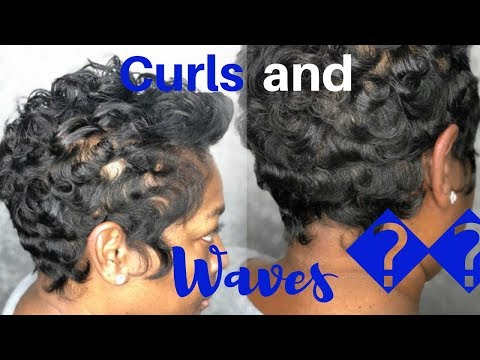 How To Curl Short Black Hair| Finger Wave And Curl