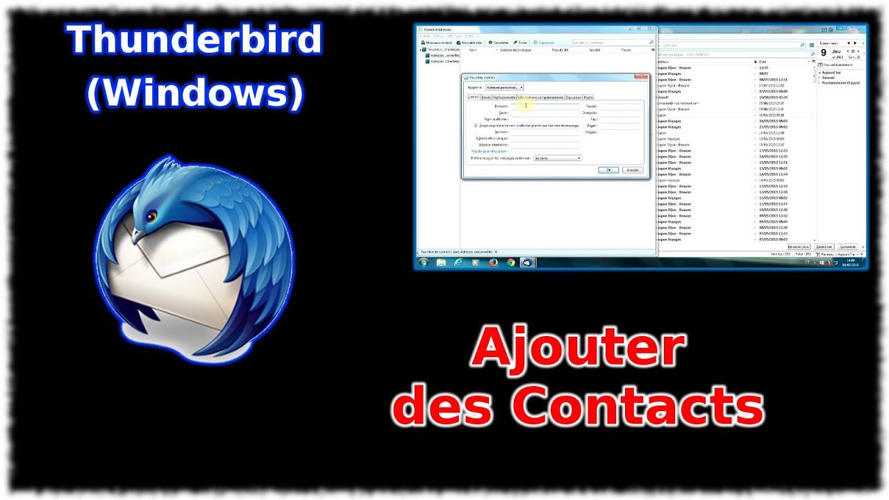 Tuto Thunderbird - Ajouter des contacts