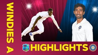 West Indies A vs India A - Match Highlights | 3rd Test - Day 1 | India A Tour of West Indies