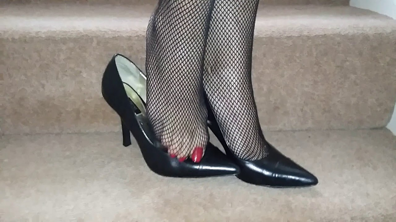 Stilettos and fishnets