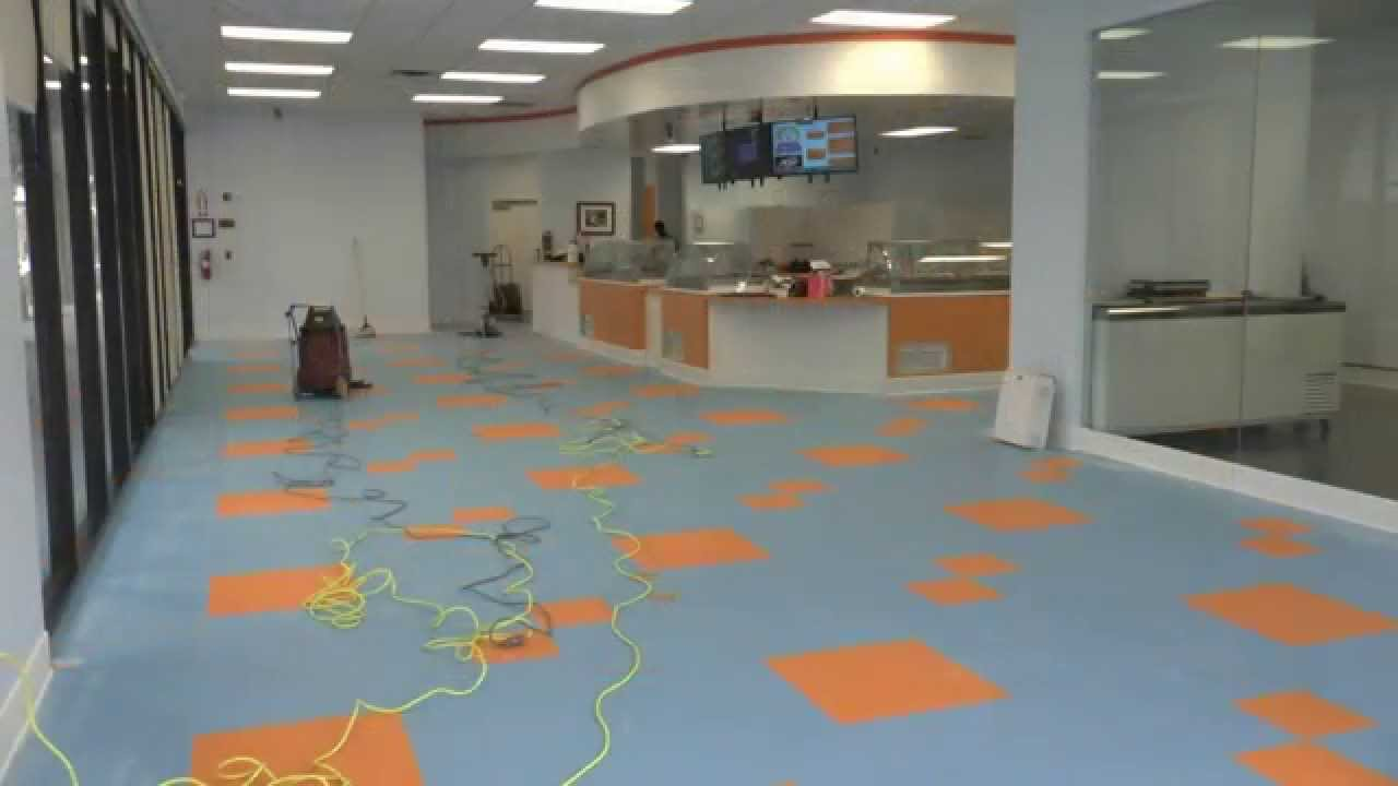 Applying Floor Finish To A New Vct Floor Youtube