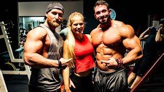 115kg Bodybuilder - Letztes Training vor dem Wettkampf