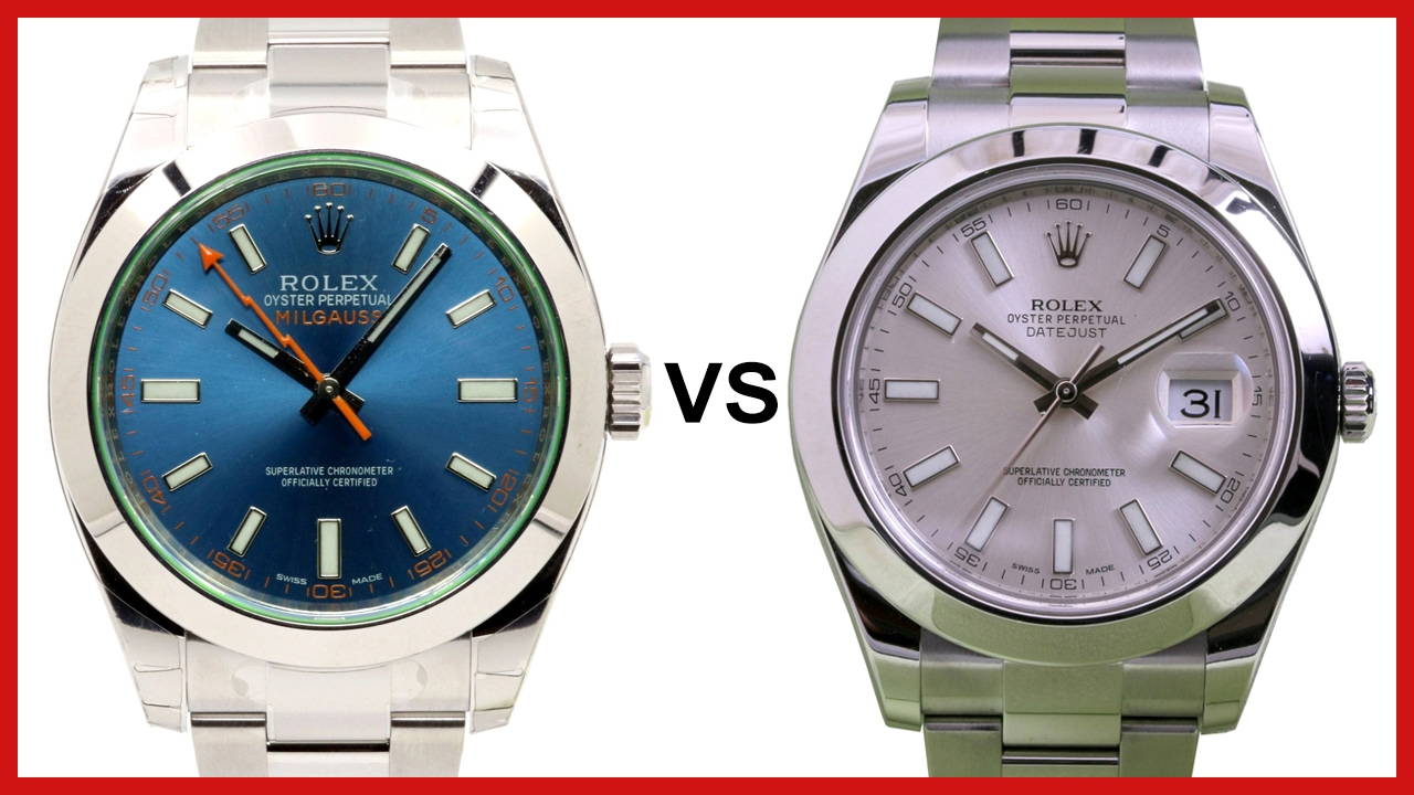 d4e95ff0922 ▷ Rolex Milgauss vs Datejust II - COMPARISON - YouTube