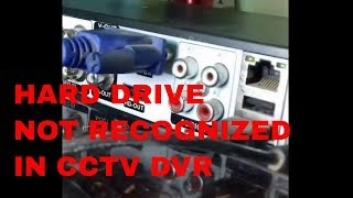 HARD DRIVE NOT RECOGNIZED IN CCTV DVR TRY THIS SIMPLE CCTV TROUBLESHOOTING STEPS(Sai Computer)