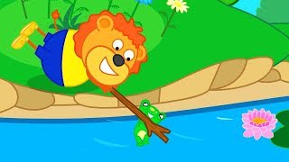 Lion Family Frog cute Friend Cartoon for Kids