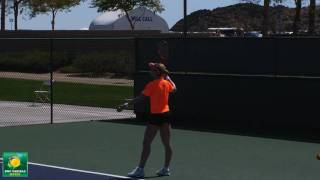 Elena Dementieva hitting serves in slow motion HD -- Indian Wells Pt. 14