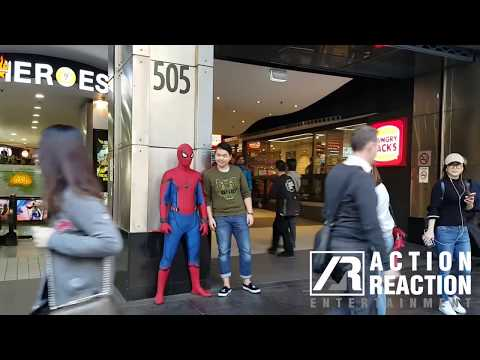 Spider-Man Homecoming Statue Prank | Action Reaction