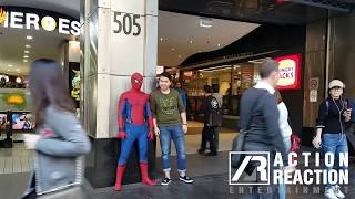 Spider-Man Homecoming Statue Prank   Action Reaction