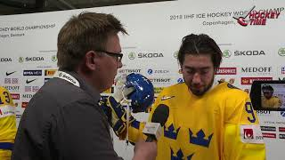 Mika Zibanejad at the World Cup