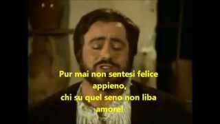 Pavarotti - La Donna e mobile (Lyrics)
